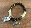 Tiger's Eye & Rutilated Quartz Charm Bracelet